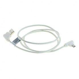 OTB - 1m Cablu de date micro-USB din nylon / conector la 90 de grade împletit - Cabluri USB la USB C - ON5011-C www.NedRo.ro