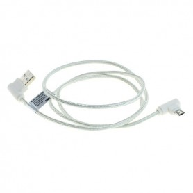 OTB - 1m USB to Micro-USB data cable nylon sheathed 90 degree plug - USB to USB C cables - ON5011-C www.NedRo.us