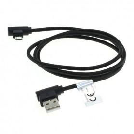 OTB, 1m Cablu de date micro-USB din nylon / conector la 90 de grade împletit, Cabluri USB la Micro USB, ON5011-CB, EtronixCen...