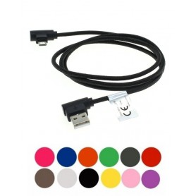 OTB - 1m USB to Micro-USB data cable nylon sheathed 90 degree plug - USB to Micro USB cables - ON5011-CB www.NedRo.us