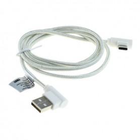 OTB, 1m Cablu de date USB TIP C (USB-C) la USB din nylon / conector la 90 de grade împletit, Cabluri USB la USB C, ON5021-CB,...