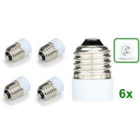 NedRo - E27 to MR16 Socket Base Converter Adapter - Light Fittings - LCA109-6x www.NedRo.us