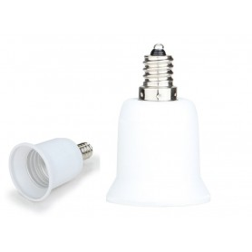 NedRo - E12 naar E27 Fitting Omvormer - Lamp Fittings - LCA24 www.NedRo.nl