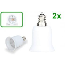 NedRo - E12 to E27 Socket Converter - Light Fittings - LCA24-2x www.NedRo.us