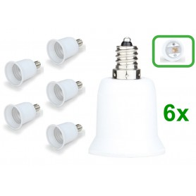 NedRo - E12 to E27 Socket Converter - Light Fittings - LCA24-6x www.NedRo.us