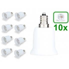 NedRo - E12 to E27 Socket Converter - Light Fittings - LCA24-10x www.NedRo.us