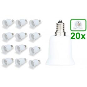 NedRo - E12 to E27 Socket Converter - Light Fittings - LCA24-20x www.NedRo.us