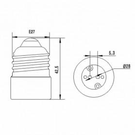 NedRo - E27 to MR16 Socket Base Converter Adapter - Light Fittings - LCA109-50x www.NedRo.us