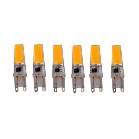 NedRo - G9 10W Bec cu LED-uri COB Alb Cald Reglabil - G9 LED - AL184-6x www.NedRo.ro