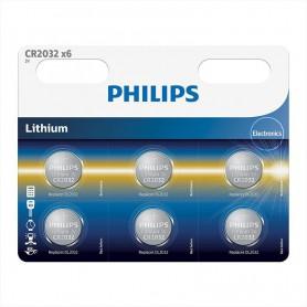 PHILIPS, 6-Pack Philips CR2032 3v baterie plata cu litiu, Baterii plate, BS013-CB, EtronixCenter.com
