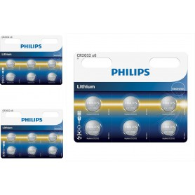 PHILIPS - 6-Pack Philips CR2032 lithium button cell battery - Button cells - BS013-CB www.NedRo.us