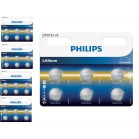 PHILIPS - 6-Pack Philips CR2032 3v baterie plata cu litiu - Baterii plate - BS013-CB www.NedRo.ro
