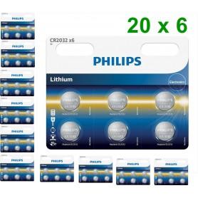 PHILIPS - 6-Pack Philips CR2032 3v lithium knoopcelbatterij - Knoopcellen - BS013-CB www.NedRo.nl