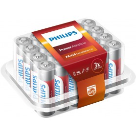 PHILIPS - 24-Pack - AAA R3 Philips Power Alkaline - AAA formaat - BS017-5x www.NedRo.nl