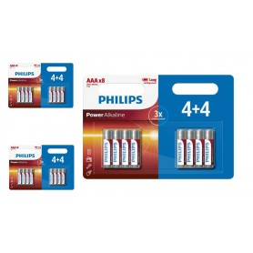 PHILIPS - 4+4 Pack - AAA R3 Philips Power Alkaline - AAA formaat - BS018-3x www.NedRo.nl