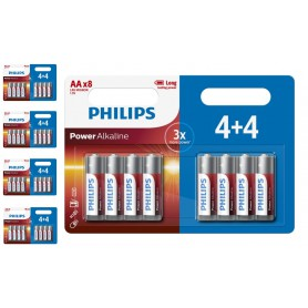 PHILIPS - 4+4 Pack - AA R3 Philips Power Alkaline - Size AA - BS019-CB