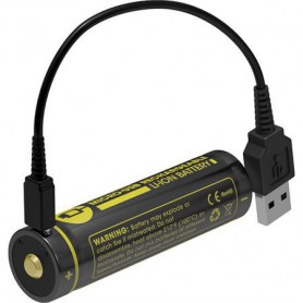 NITECORE - Nitecore USB 18650 li-ion NL1834R 3400mAh 3.6V - Format 18650 - BS020-CB www.NedRo.ro