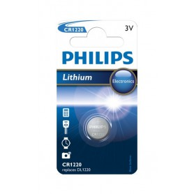 Philips CR1220 lithium button cell battery