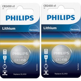 PHILIPS - Philips CR2450 3V lithium button cell battery - Button cells - BS028-CB www.NedRo.us