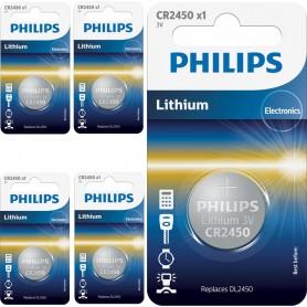 PHILIPS - Philips CR2450 3v baterie plata cu litiu - Baterii plate - BS028-CB www.NedRo.ro