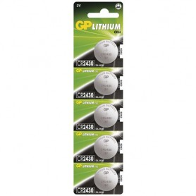 GP CR2430 3V lithium button cell battery