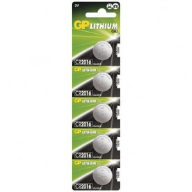 GP, GP CR2016 3V lithium knoopcel batterij, Knoopcellen, BS249-CB, EtronixCenter.com
