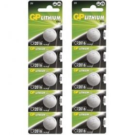 GP, GP CR2016 3V baterie plata cu litiu, Baterii plate, BS249-CB, EtronixCenter.com