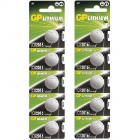 GP - GP CR2016 3V lithium button cell battery - Button cells - BS249 www.NedRo.us