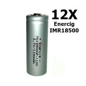 Enercig - Enercig IMR18500 Oplaadbare batterij 1100mAh - 22A - Andere formaten - NK279-12x www.NedRo.nl
