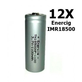 Enercig - Enercig IMR18500 Rechargeable battery 1100mAh - 22A - Other formats - NK279-12x www.NedRo.us