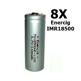 Enercig - Enercig IMR18500 Oplaadbare batterij 1100mAh - 22A - Andere formaten - NK279-8x www.NedRo.nl