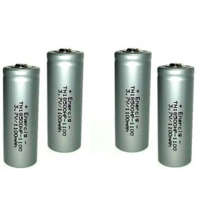 Enercig - Enercig IMR18500 Oplaadbare batterij 1100mAh - 22A - Andere formaten - NK279-4x www.NedRo.nl