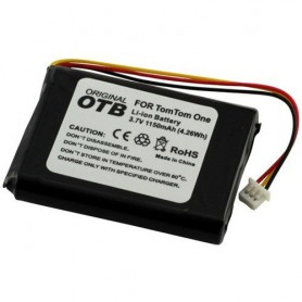 Battery for TomTom One/One Europe/Rider/V2/V3 1150mAh ON1845