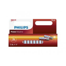 PHILIPS, 12-Pack - AAA R3 Philips Power Alkaline, AAA formaat, BS031-CB, EtronixCenter.com