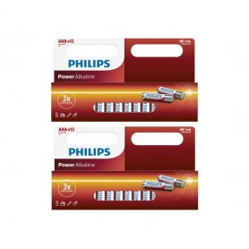 PHILIPS - 12-Pack - AAA R3 Philips Power Alkaline - AAA formaat - BS031-2x www.NedRo.nl