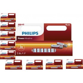 PHILIPS - 12-Pack - AAA R3 Philips Power Alkaline - AAA formaat - BS031-10x www.NedRo.nl