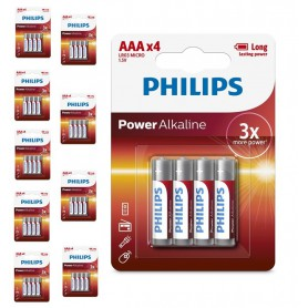 PHILIPS - 4-Pack - AAA R3 Philips Power Alkaline - AAA formaat - BS032-CB www.NedRo.nl