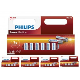 PHILIPS - 12-Pack - AA R3 Philips Power Alkaline - Format AA - BS033-5x www.NedRo.ro