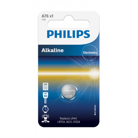 Philips LR44/76A 1.5v Alkaline knoopcel batterij