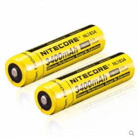 NITECORE - Nitecore 18650 li-ion NL1834 3400mAh 3.7V - 18650 formaat - BS040-2x www.NedRo.nl