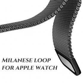 NedRo - Metalen armband voor Fitbit Blaze frame magneet slot - Armbanden - AL484-ZW-S www.NedRo.nl