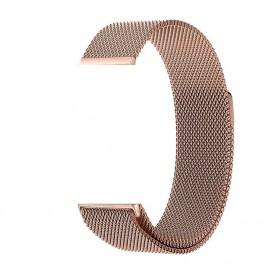 NedRo - Metalen armband voor Fitbit Blaze frame magneet slot - Armbanden - AL484-RG-L www.NedRo.nl