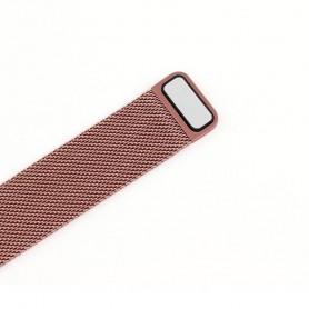 NedRo - Metalen armband voor Fitbit Blaze frame magneet slot - Armbanden - AL484-PI-L www.NedRo.nl