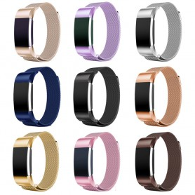 NedRo - Metal bracelet for Fitbit Charge 2 magnetic closure - Bracelets - AL188 www.NedRo.us