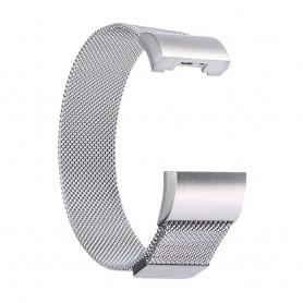 NedRo - Metalen armband voor Fitbit Charge 2 magneet slot - Armbanden - AL188-SI-L www.NedRo.nl