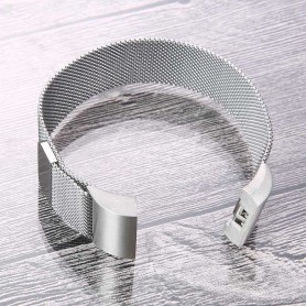 NedRo - Metal bracelet for Fitbit Charge 2 magnetic closure - Bracelets - AL188-SI-L www.NedRo.us