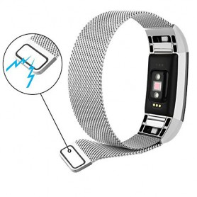 NedRo, Metalen armband voor Fitbit Charge 2 magneet slot, Armbanden, AL188-CB, EtronixCenter.com