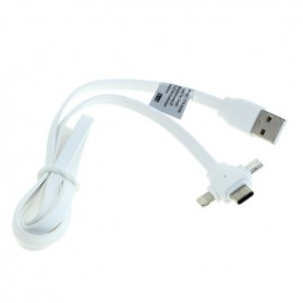 OTB - 3-in-1 data cable iPhone / Micro-USB / USB-C - Link cable 1M - Other data cables  - ON5067 www.NedRo.us