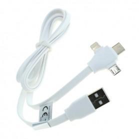 OTB - 3-in-1 Cablu de date iPhone / Micro-USB / Tip USB-C- Cablu de legătură 1M - Alte cabluri de date  - ON5066-CB www.NedRo.ro
