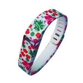 NedRo - FloralFlex TPU armband voor Fitbit Flex - Armbanden - SF6-L www.NedRo.nl